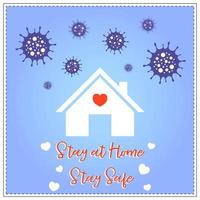 Stay home stay safe from Coronavirus poster