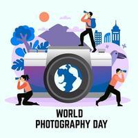 Ilustración del día mundial de la fotografía impresa