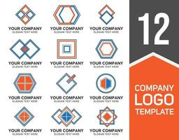 colección de plantillas de logotipo de empresa geométrica vector