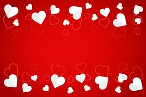 White paper hearts and pattern banner