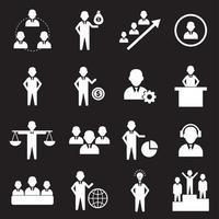 conjunto de 16 iconos de recursos humanos