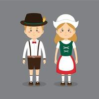 Germany Chracters Wearing Traditional Dress