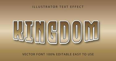 Kingdom Tan Fading Text Effect vector