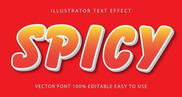 Spicy Orange Text Effect vector
