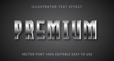 Silver Metallic Premium Text Effect vector