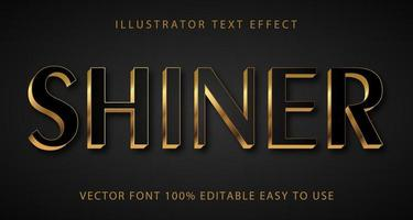 Shiner Black, Gold Accent Text Effect vector