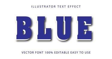 efecto de texto de acento azul y blanco