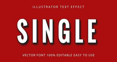 Single White, Black Text Effect vector