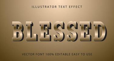 Blessed Tan Metallic Text Effect vector