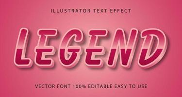 Legend Pink Metallic Text Effect vector