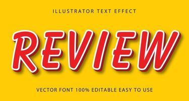 efecto de texto de revisión delgada línea roja, blanca