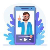 Mobile lecture design vector