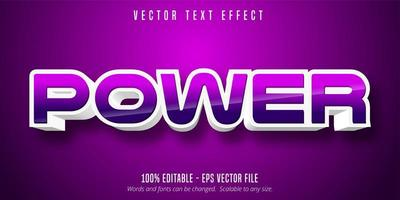 Game style editable text effect vector