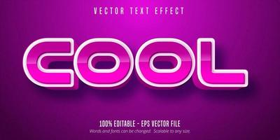 Cool style editable text effect vector
