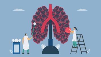 Lung Disease Flat Design