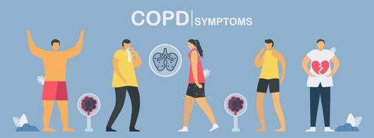 disegno dei sintomi di copd