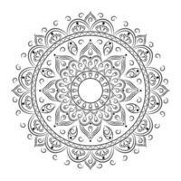 Islamic mandala for coloring vector