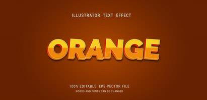 effet de texte dégradé orange