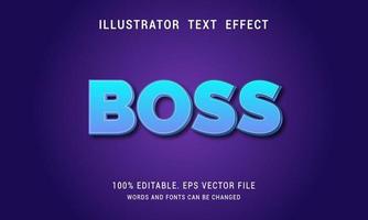 efecto de texto degradado azul vector