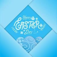 Blue Easter eggs in folded paper design