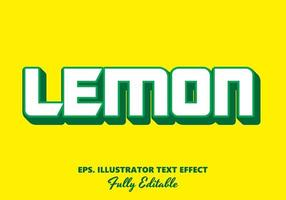 Lemon Green and White Editable Text Effect vector