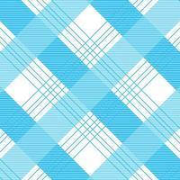 textura de tecido de camisa cruzada azul sem costura padrão vetor