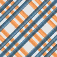 Seamless pattern blue and orange check shirt fabric texture vector