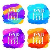Colorful brush hand drawn hero dad quote
