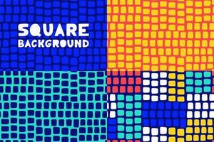 Abstract Geometric Square Seamless Pattern Set