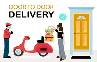 Online delivery contactless service to home design