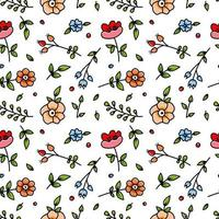 Colorful Cartoon Floral Seamless Pattern
