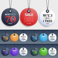 colección de diseño de etiquetas de venta circular vector