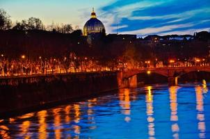 Vatican and the Tiber river photo