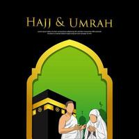 Hajj mabrour and umrah design template  vector