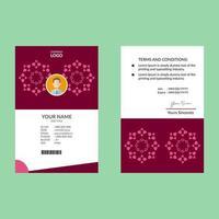 tarjeta de identificación elegante rosa vector