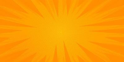 Orange Halftone Sunburst vector
