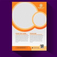 Circular Cover Layout vector