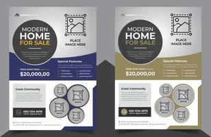 Real Estate Flyers in Purple and Clay Color vector