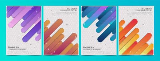 Colorful Flowing Angled Lines Covers Set