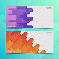 diseños de banner abstracto de flujo colorido vector