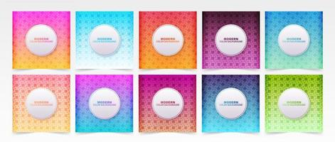 Diamond Pattern Colorful Gradient Covers Set vector