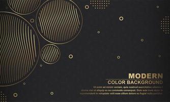 preto com acento ouro círculos fundos