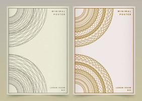 Gold, Grey Mandala Book Cover vector