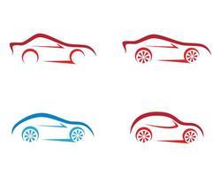 conjunto de logotipo de contorno de coche