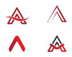 Letter A Logo Design Set  vector