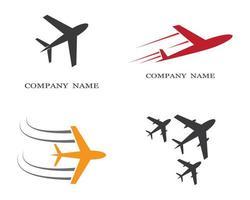 conjunto de iconos de logotipo de avión