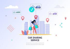 Girl Looking for Nearest Car Sharing Location
