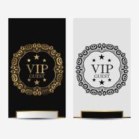 Black and white ornamental VIP premium luxury cards vector