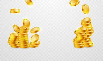 Gold coin stacks set for casino
