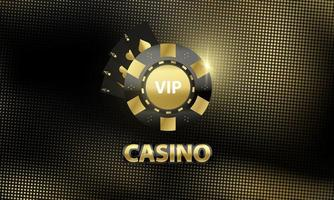 Casino banner with gold and black roulette wheel